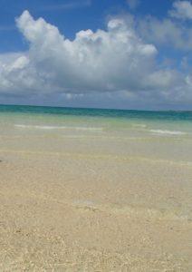 幻の島 浜辺
